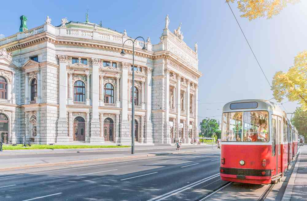 The best way to spend your time during your day in Vienna is a tram ride along the Ring Road.