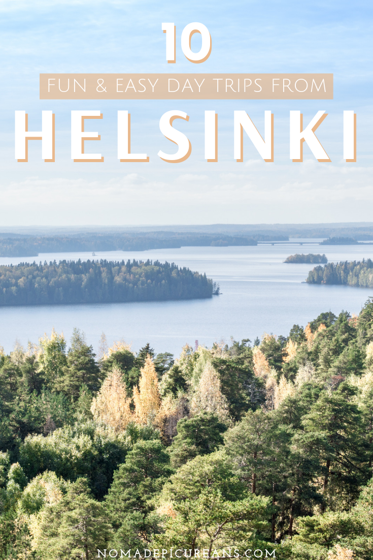 Are you heading to Helsinki but got one or two extra days? Then take one of these fun & easy day trips from Helsinki. Recommended by a Finn, these are actually doable and don't require any extra visa. Includes national parks, abandoned castles, and buzzing cities! #travel #finland