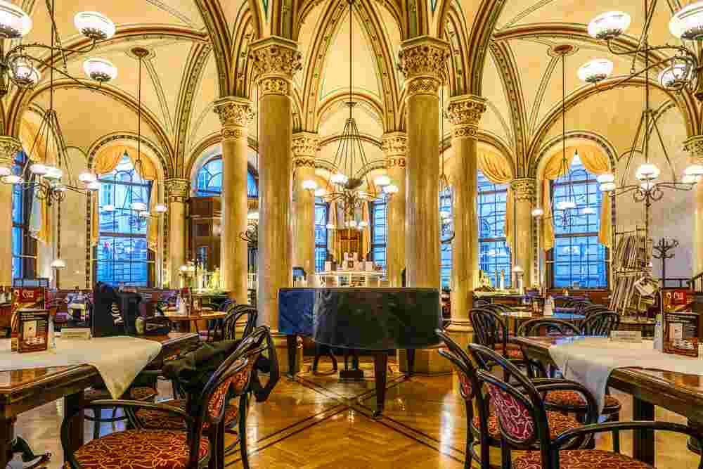 Take a coffee break at Cafe Central during your self-guided Vienna walking tour. C: Lisa Stelzel / Shutterstock.com