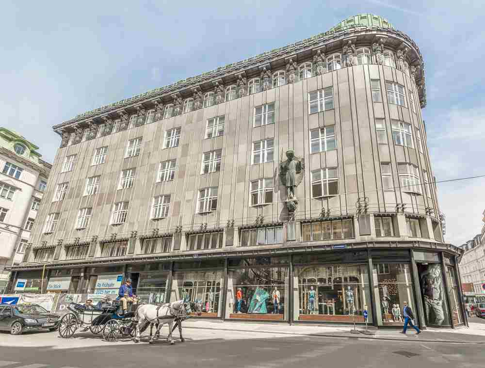 This art deco building is only one of many stops on this self-guided walking tour of Vienna. C: Cortyn / Shutterstock.com