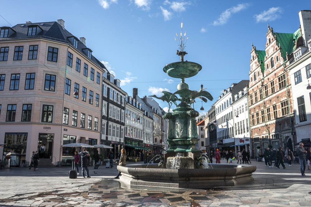 A stroll down the main pedestrian shopping street of Strøget is one of the best things to do when spending a weekend in Copenhagen.