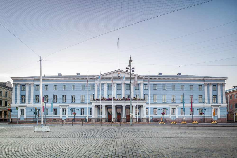 The Helsinki City Hall is one of the main sightseeing spots on this free self-guided walking tour of Helsinki.