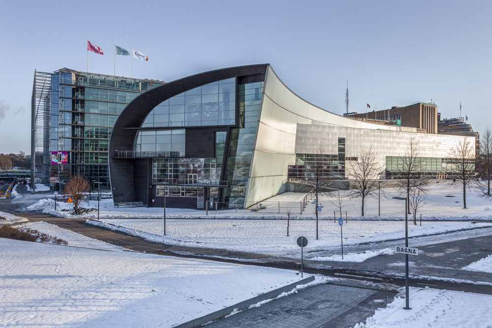 The Museum of Contemporary Art Kiasma is one of the best places to see on this free self-guided Helsinki walking tour. C: Vermette108/shutterstock.com