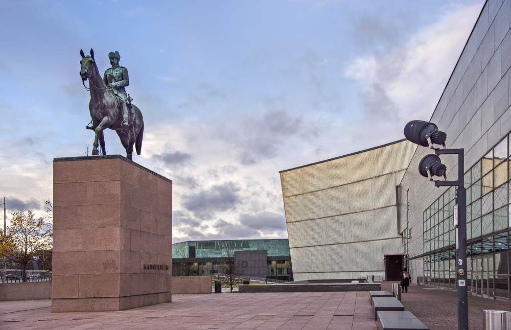 The Mannerheim Statue is one of the main sights on this free self-guided Helsinki walking tour.