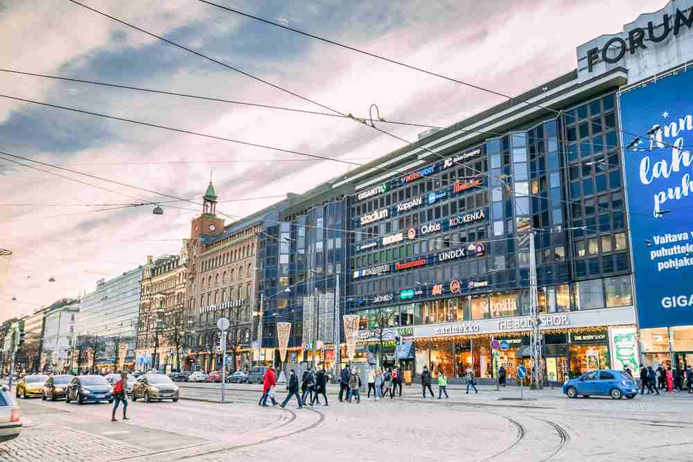 Mannerheimintie is one of the main sights to see on this free self-guided Helsinki walking tour. C: Grisha Bruev/shutterstock.com