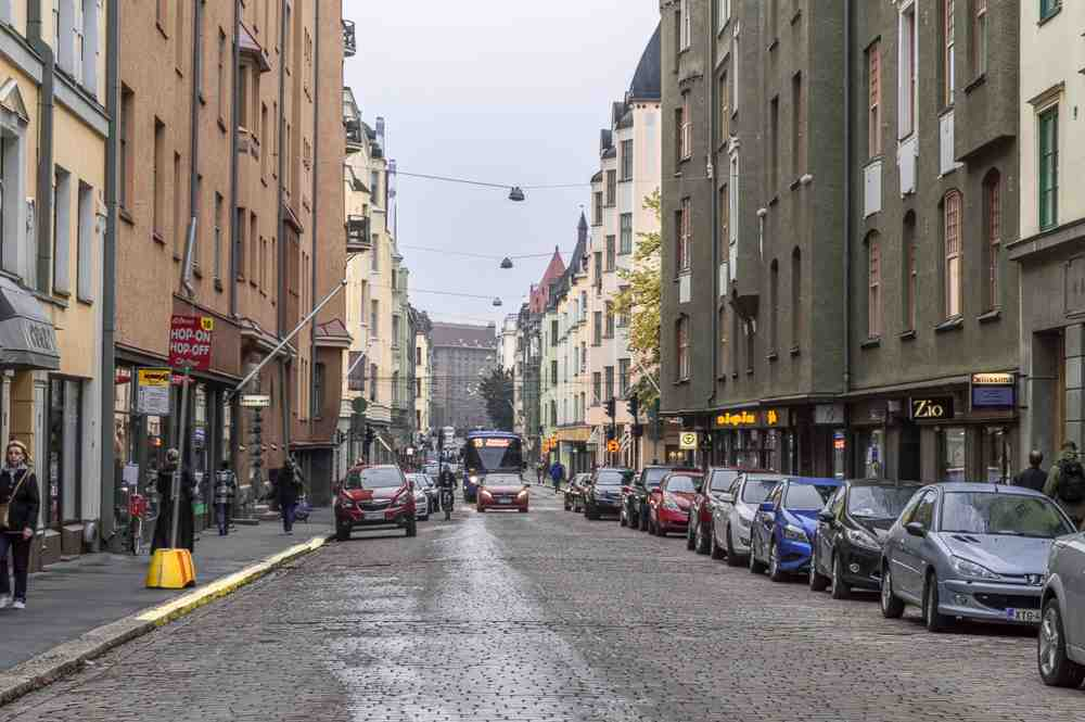 The trendy Punavuori district is one of the best things to see on this free self-guided Helsinki walking tour.