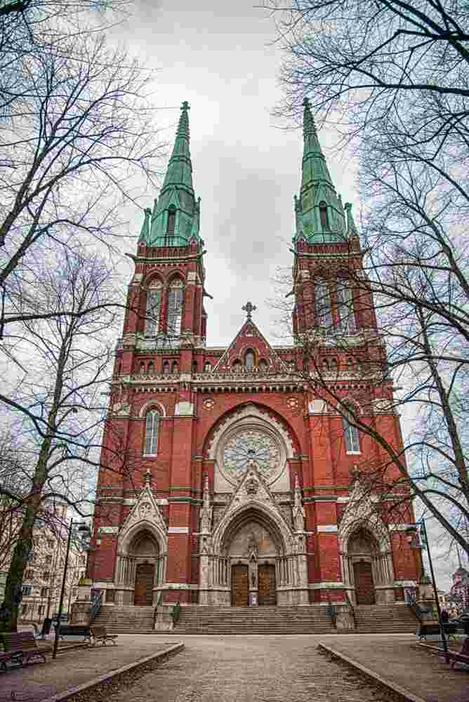 The wonderful St. John's Church is one of the main attractions on this free self-guided Helsinki walking tour.