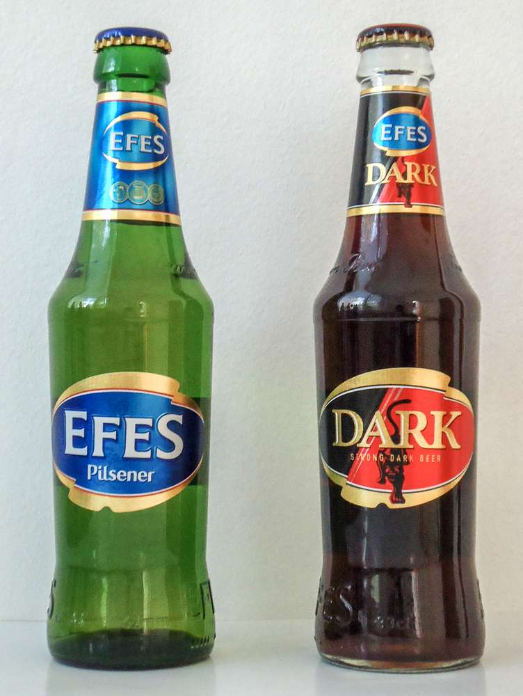 Efes beer is a good Turkish beer to try when in Istanbul.