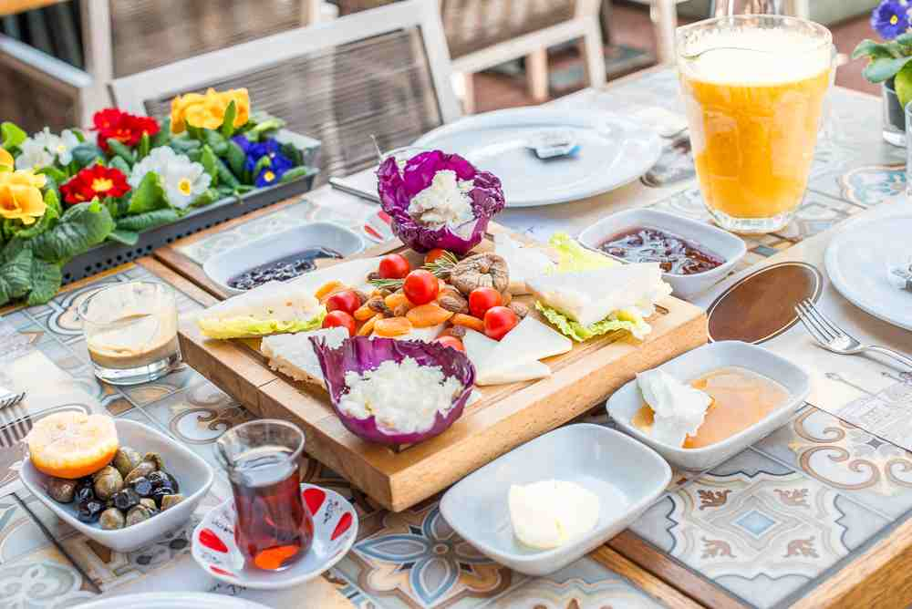 The delectable Turkish breakfast is one of the best foods to try in Istanbul.