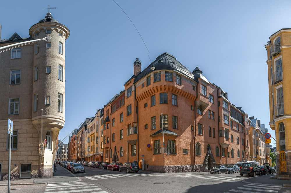 The picturesque Katajanokka district is one of the best places to see when spending one day in Helsinki.