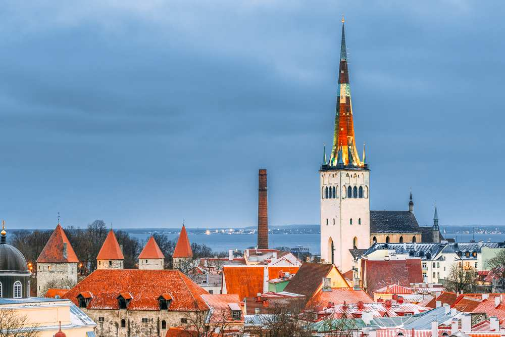 A visit to the top of the magnificent St. Olav's Church is one of the top things to do when spending one day in Tallinn