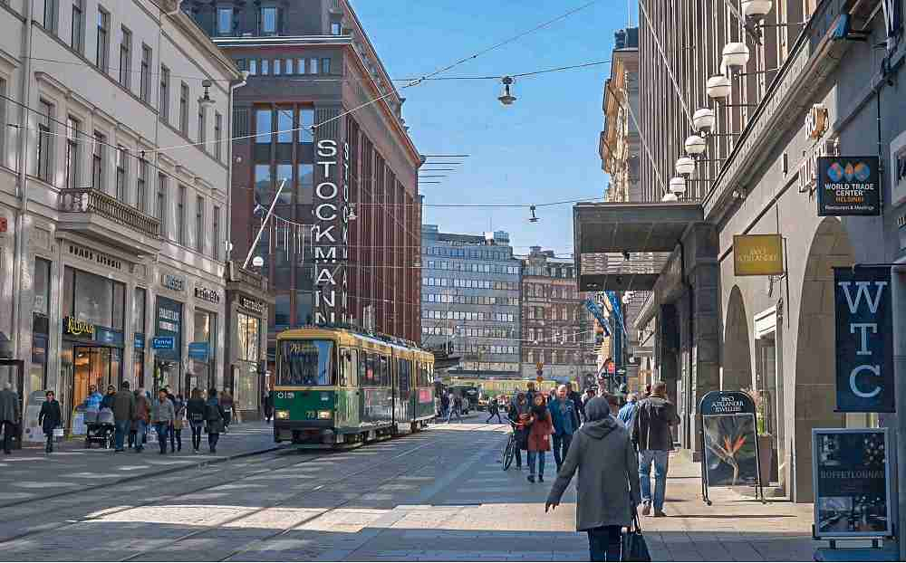 A visit to the main shopping street of Aleksanterinkatu is a must when visiting Helsinki for a weekend.
