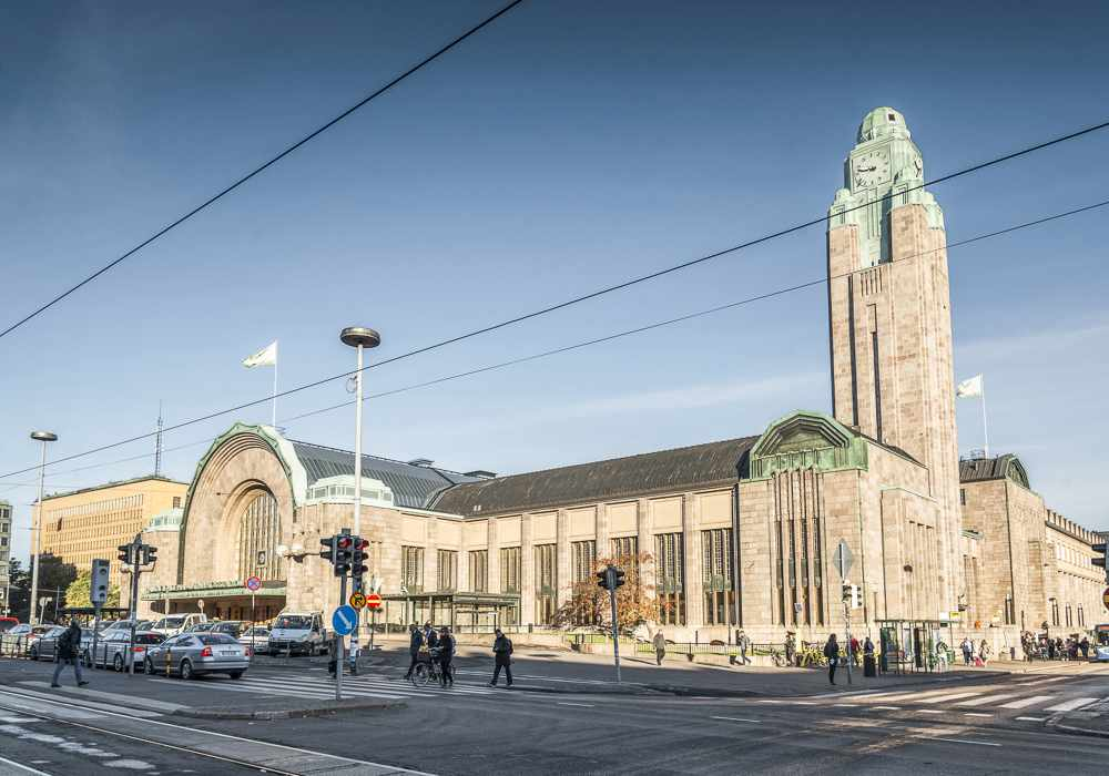 The Helsinki Central Station is one of the best places to see when spending a weekend in Helsinki.