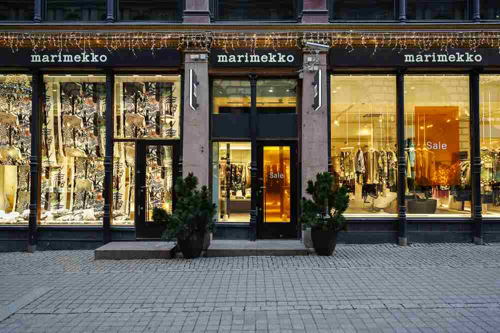Marimekko store is one of the top places to visit during 3 days in Helsinki. C: EQRoy/shutterstock.com
