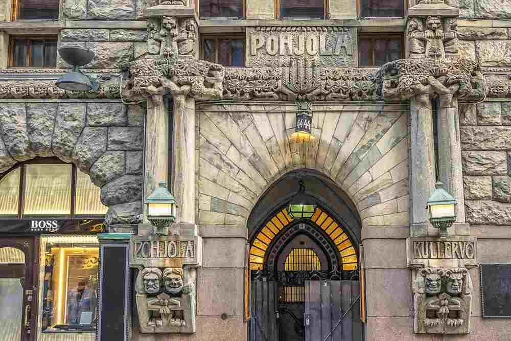 The Pohjola Insurance Building is one of the best things to see on this free self-guided Helsinki walking tour. C: Kiev.Victor/shutterstock.com