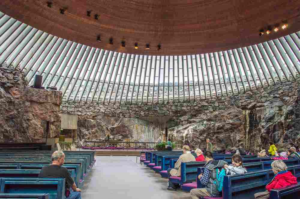 A visit to the interior of the Rock Church is one of the best things to do on a weekend in Helsinki.