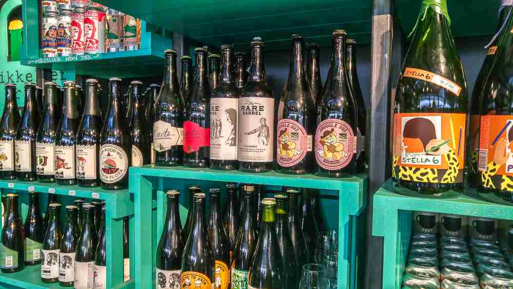 Mikkeller has dozens of beers on offer. It is hard to choose which one to bring home as a souvenir from Denmark.