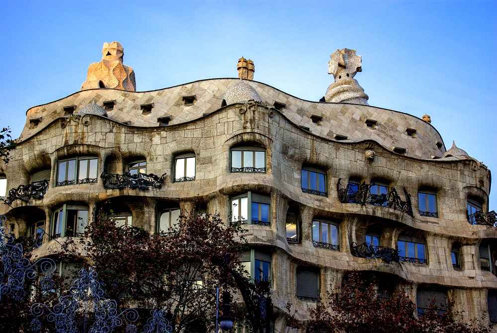 Barcelona is undoubtedly one of the best cities in the world to see Art Nouveau architecture and Gaudi's famous Casa Mila is one of the best examples of that style.
