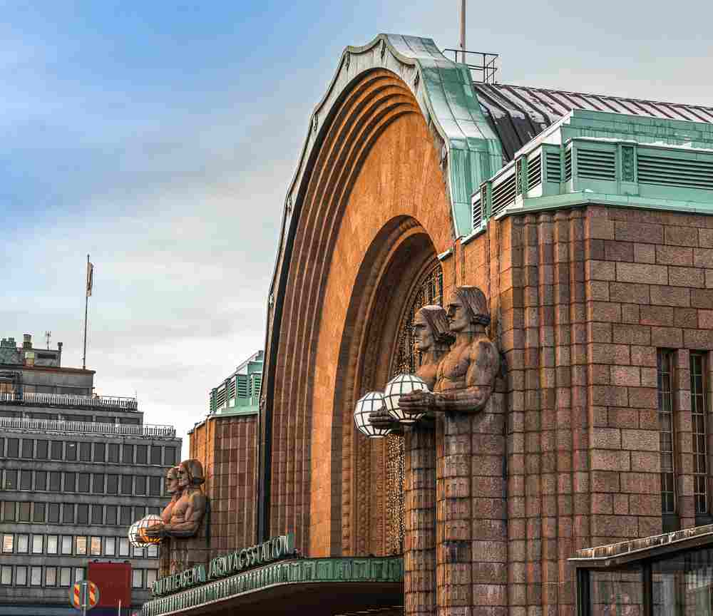The Helsinki Central Station is one of the best examples of Art Nouveau architecture in Europe.