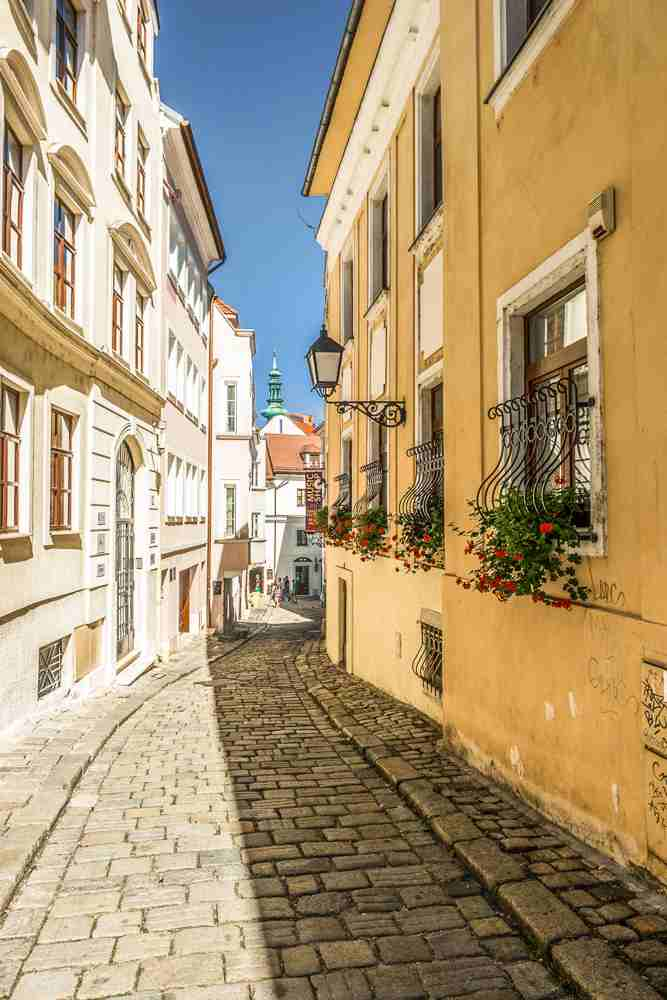 What to do in Bratislava: The charming Old Town of Bratislava is full of beautiful architecture, cobblestone streets that are one of the must-see attractions in Bratislava.