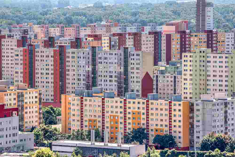 Must-see Bratislava: The seemingly endless blocks of residential towers in Petrzalka are one of the best things to see in Bratislava.