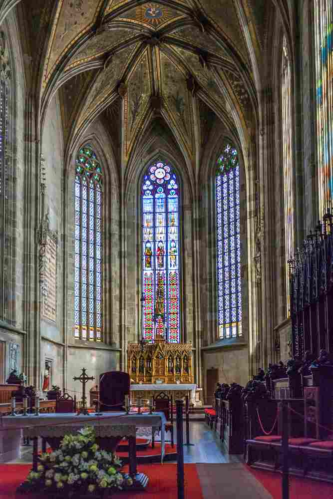 One or two days in Bratislava itinerary: The interior of the Gothic St. Martin's Cathedral is known for its large nave and ornate gold altar, which make it a must-visit attraction in Bratislava. C: vvoevale/bigstockphoto.com