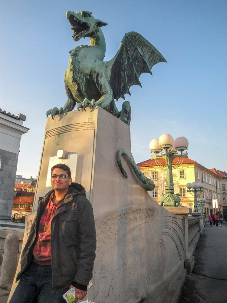 Must-see attractions in Ljubljana: The iconic Dragon Bridge is one of the top places to see when sightseeing in Ljubljana for one or two days.