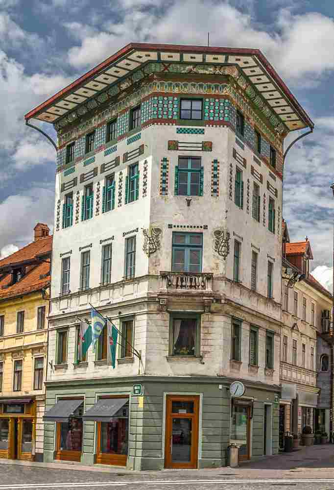 What do see in Ljubljana: Hauptmann House in Preseren Square is one of the best examples of Art Nouveau in Ljubljana.