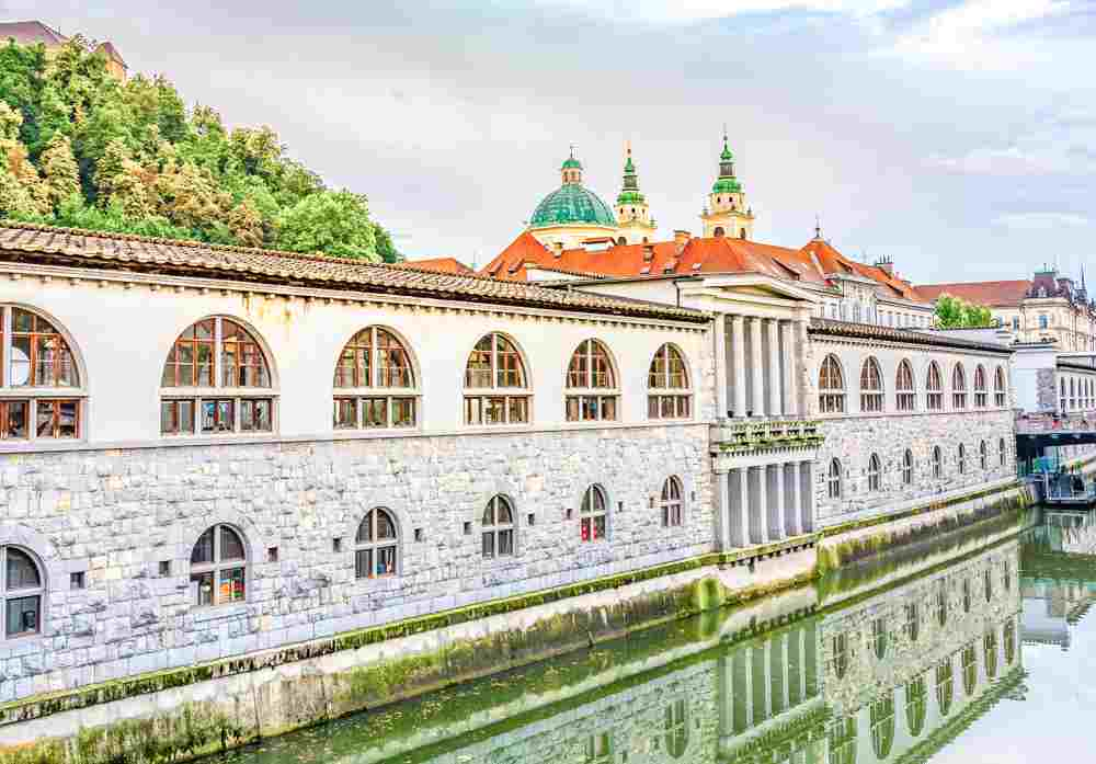 One day in Ljubljana: The colonnaded Central Market is one of the best things to see when sightseeing in Ljubljana for 24 or 48 hours.