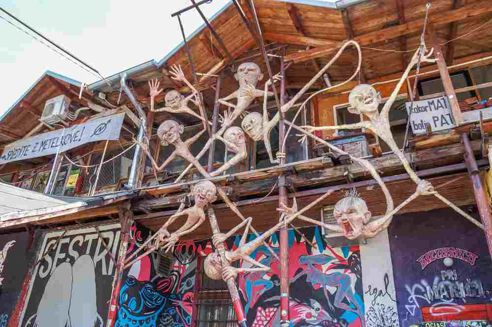 One day in Ljubljana. The Metelkova art commune is full of funky art displays and is thus one of the best places to visit in Ljubljana. C: Bakusova/shutterstock.com