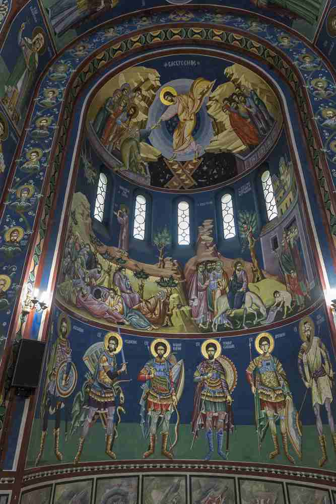 Must-see attractions in Ljubljana: The interior of the Sts. Cyril and Methodius Church is embellished by beautiful frescoes. C: Sergiy Palamarchuk/shutterstock.com