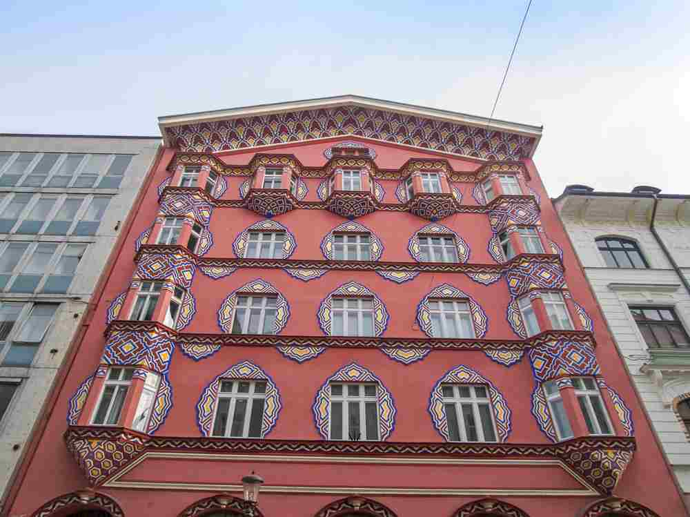 Must-see Ljubljana: The beautiful Art Nouveau style Vurnik House is tastefully decorated and shouldn't be missed when sightseeing in Ljubljana.