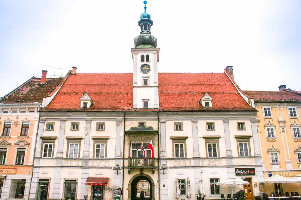 What to see in Maribor: The Renaissance style Town Hall is one of the must-see attractions in Maribor.