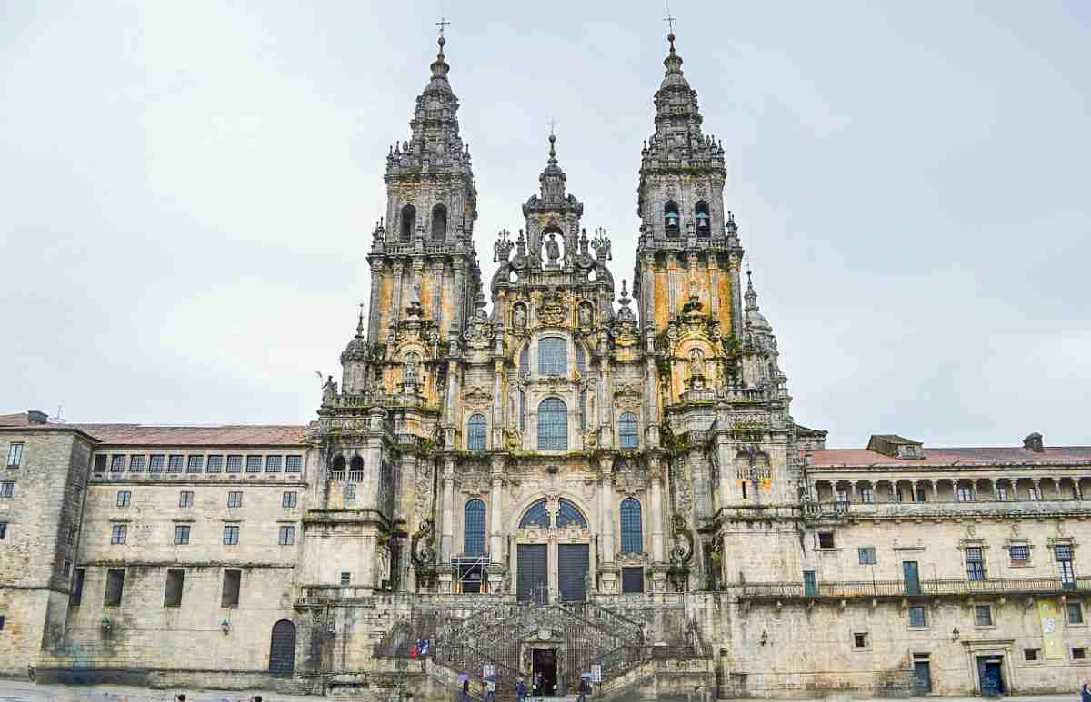 The Cathedral of Santiago de Compostela is one of the best examples of Spanish Baroque architecture.