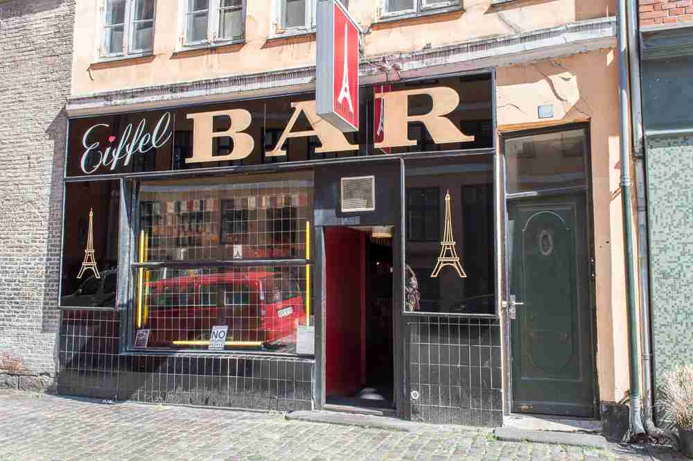 Eiffel bar is not only popular with the locals, it also has some of the cheapest beer in Copenhagen.
