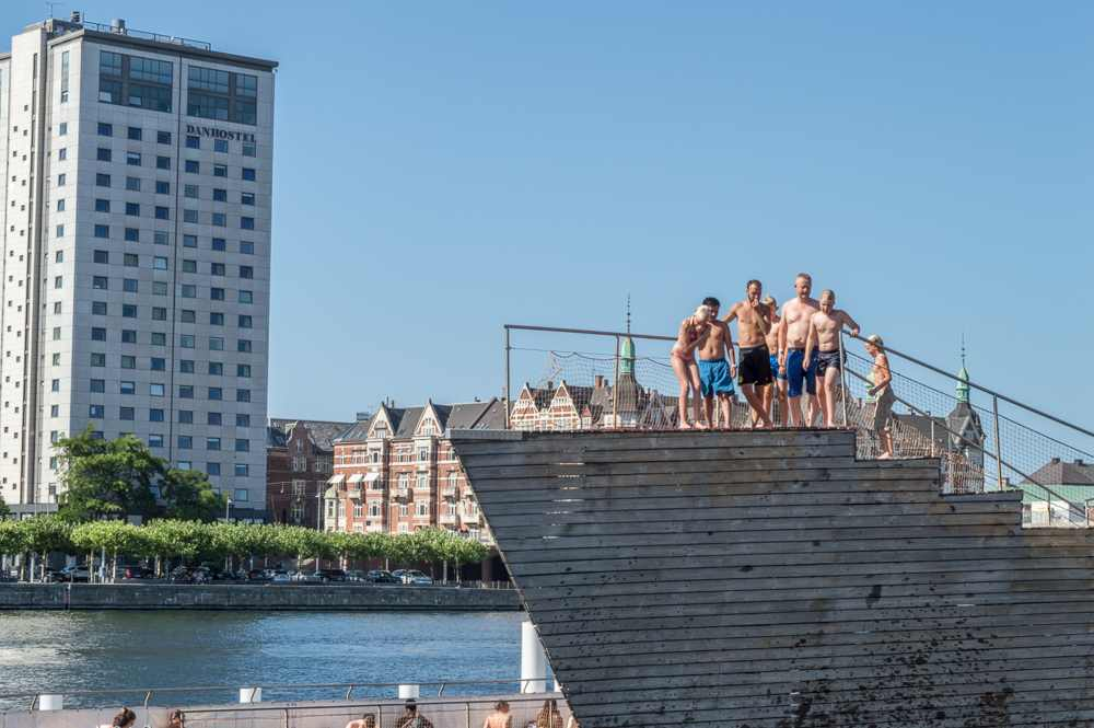 Taking a dip in the city's harbor baths is one of the best things to do in Copenhagen on a budget.