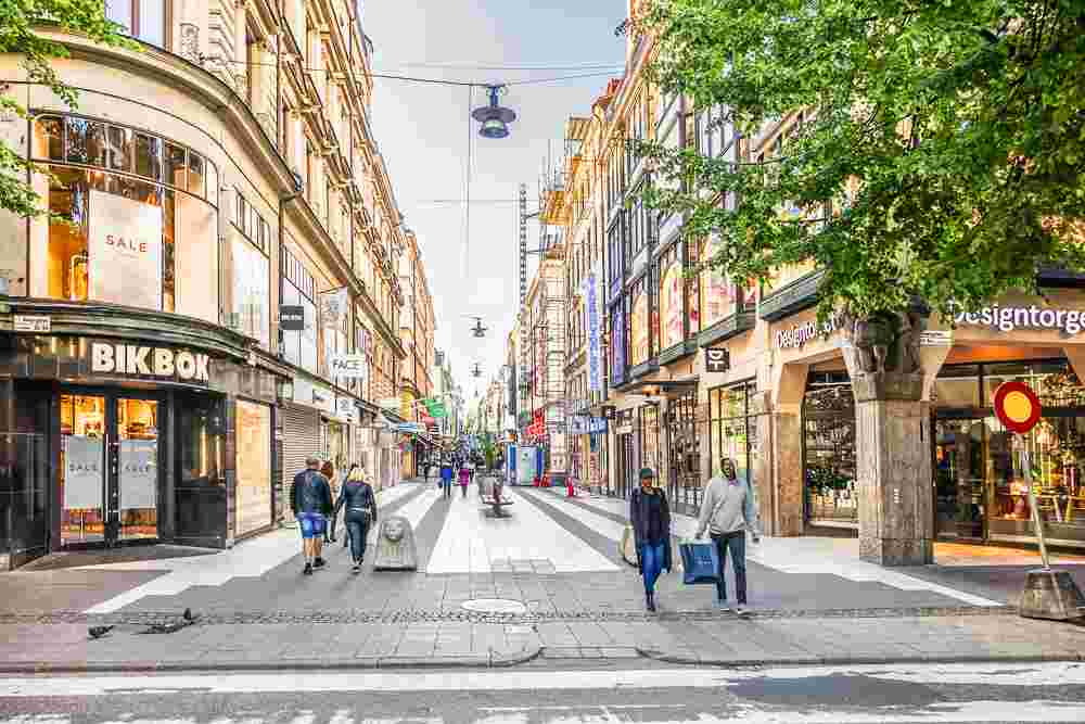 Best places for shopping in Stockholm: Drottninggatan in central Stockholm is loaded with department stores and is one of the best places to shop when spending 3 days in Stockholm.