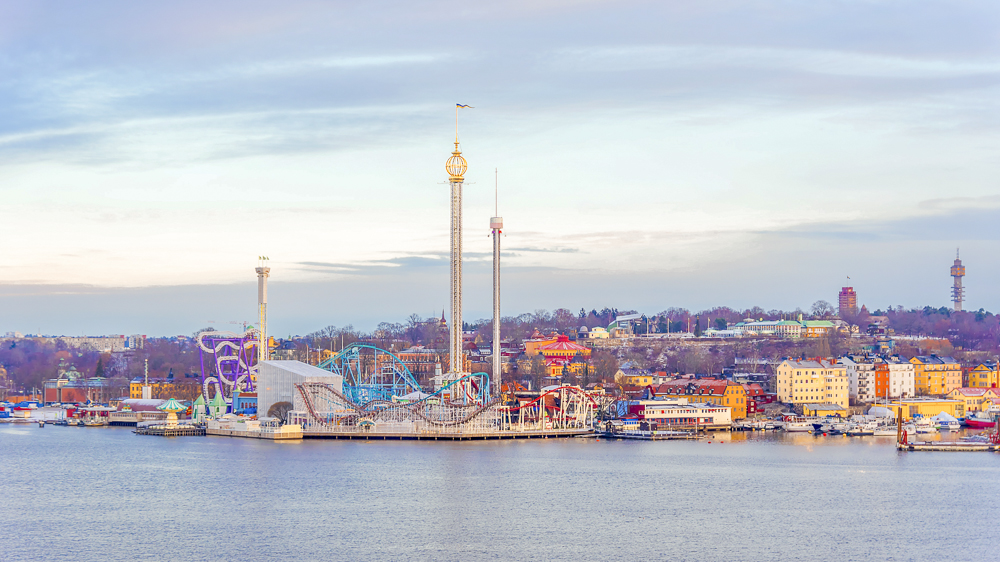 What to do in Stockholm: The Gröna Lund Amusement Park is one of the best places to visit when spending three days in Stockholm.
