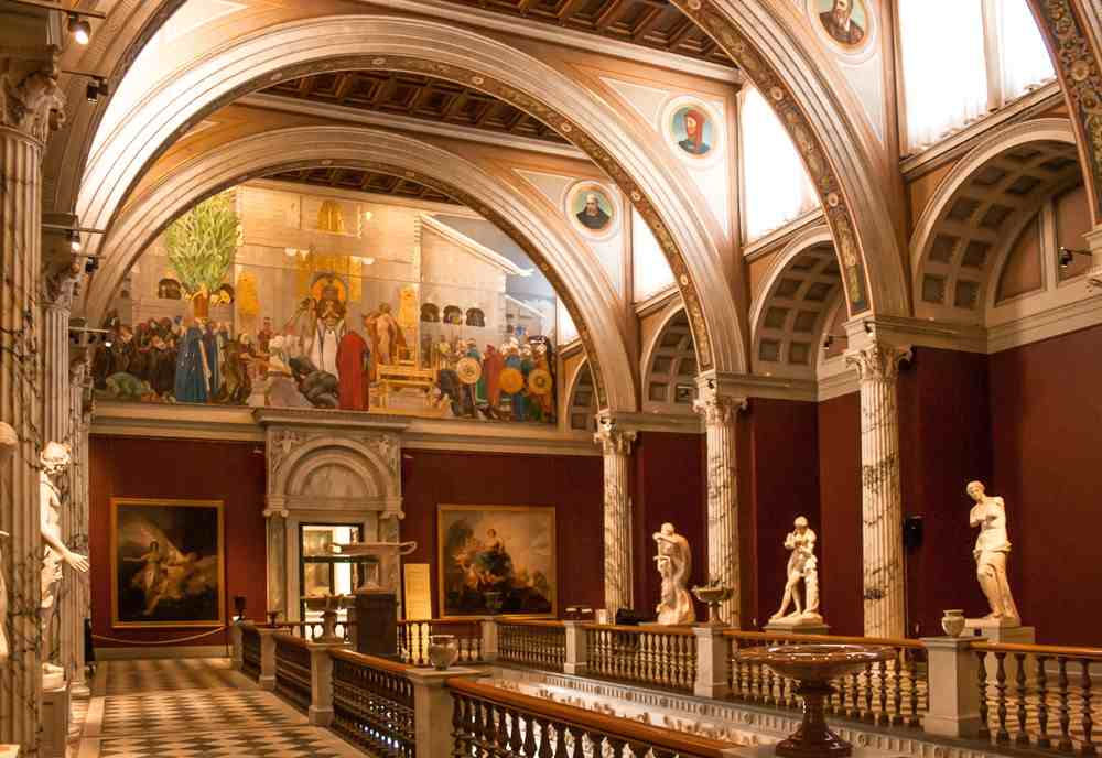 Stockholm sightseeing: The interior of the magnificent National Museum is home to a plethora of great artworks. A visit here is one of the best things to do when spending three days in Stockholm.