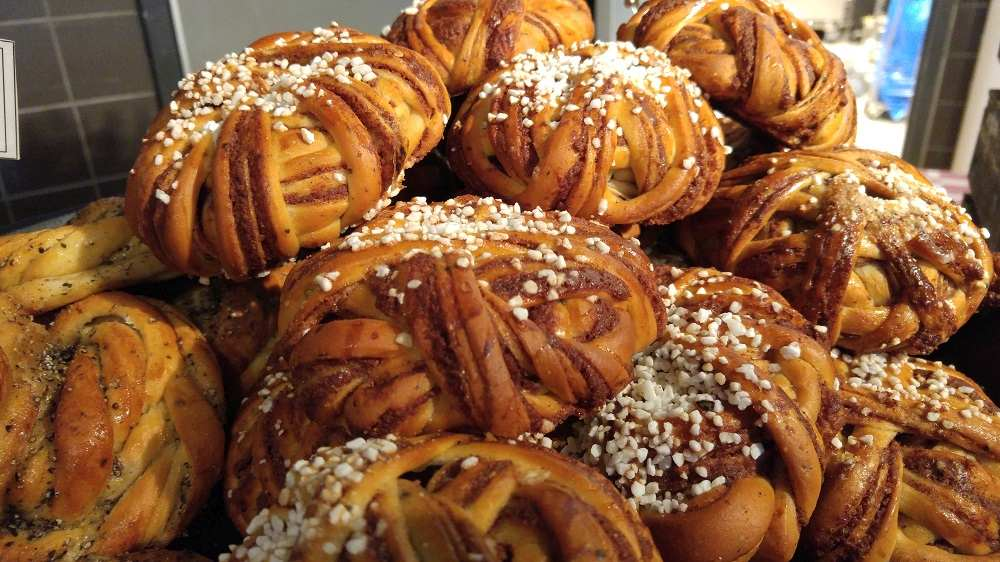 What to eat in Stockholm: Delicious cinnamon buns are some of the best things to eat for breakfast when spending 24 hours in Stockholm.