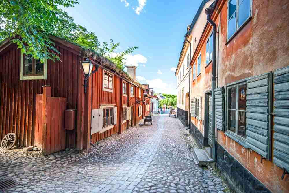 One Day in Stockholm: Skansen is the world's first open-air museum and features 150 historical farms and dwellings from all over Sweden. It is a fun place to explore when sightseeing in Stockholm.