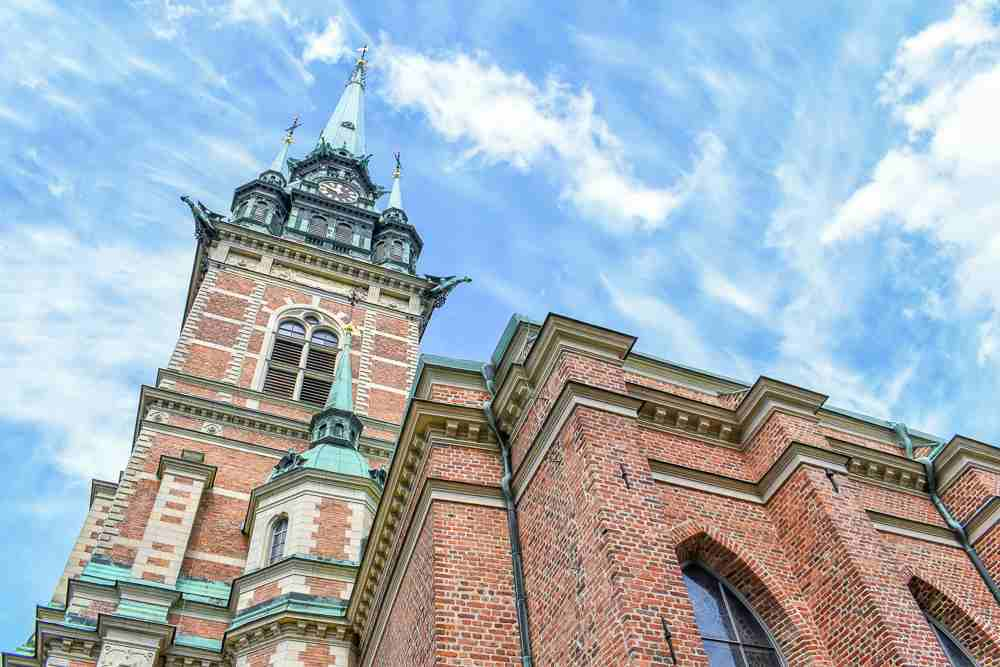 Free Self-Guided Stockholm Walking Tour: The excellent German Church is one of the major attractions in the Old Town of Stockholm.