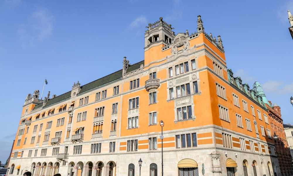 What to see in Stockholm: The palatial Rosenbad complex, home to the Prime Minister's office, is one of the must-see attractions on this free self-guided Stockholm walking tour.