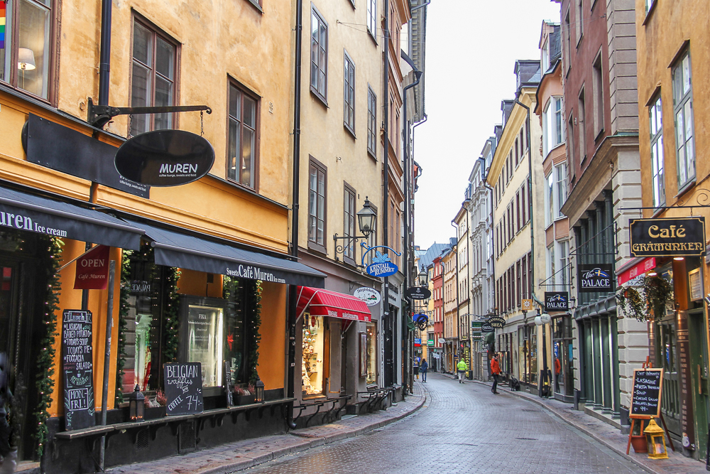 Free Self-Guided Stockholm Walking Tour: Västerlånggatan is the main shopping street and one of the most popular sights in Gamla Stan.