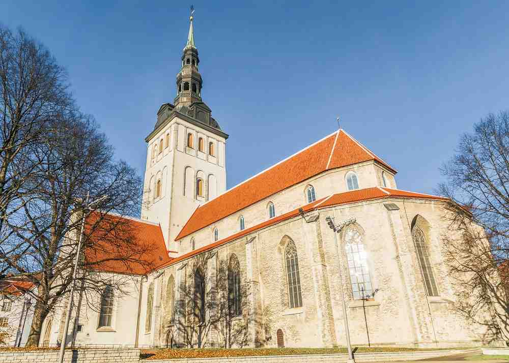 Churches in Tallinn: The 13th century Gothic style St. Nicholas Church is one of the best places to visit on a walking tour of Tallinn.
