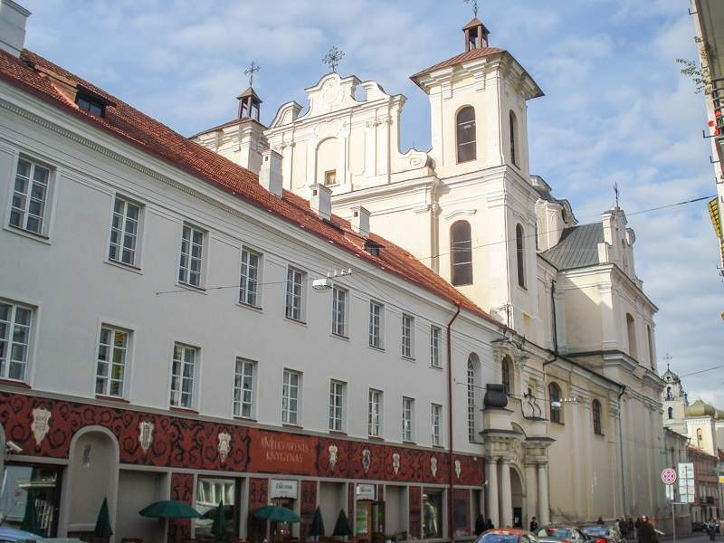 What to do in Vilnius: The Dominican Church of the Holy Spirit is one of the best churches in Vilnius and one of the notable attractions on this walking tour of Vilnius.