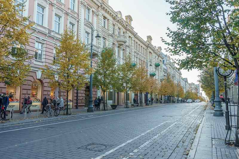 Things to do in Vilnius: Gediminas Avenue is the main boulevard and shopping street in Vilnius.