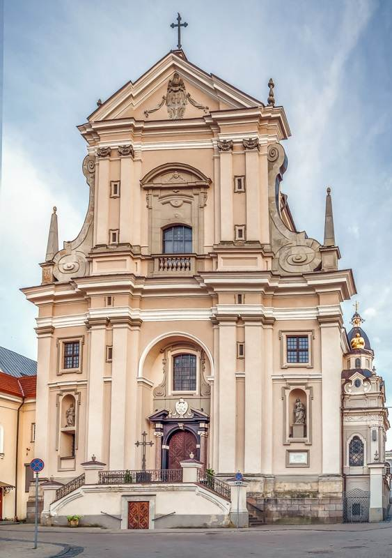 Vilnius Churches: The Baroque Church of St. Theresa is one of the best churches in Vilnius and one of the highlights of this self-guided walking tour of Vilnius.