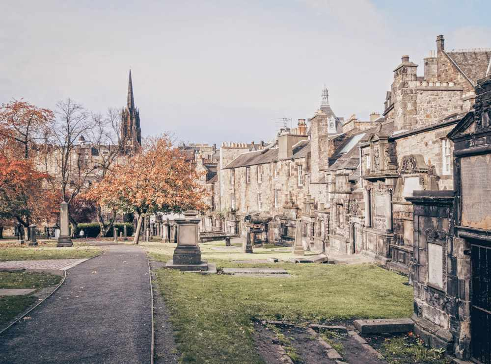 Things to see in Edinburgh: The Greyfriars Kirkyard with its fine collection of 17th-century gravestones and mausoleums is one of the highlights of this free self-guided walking tour of Edinburgh.
