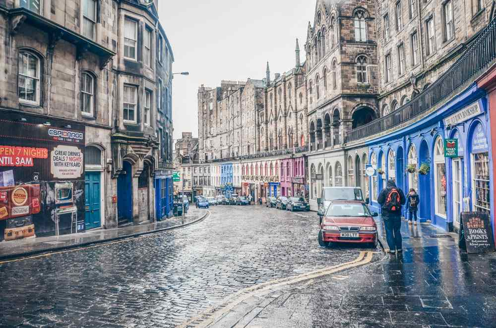 What to do in Edinburgh: Victoria Street with its gentle arc and pastel-hued buildings is one of the Edinburgh's must-see attractions.